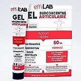 EffiLAB | Gel natural para las articulaciones y los músculos | 50 ml | Bálsamo con silicio organico, Harpagofito (garra del diablo) y aceites esenciales