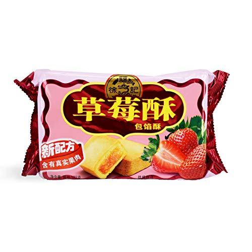 XuFuJi Cookie 徐福记:草莓酥 Strawberry Flavor Cookie 182g (pack of 2)