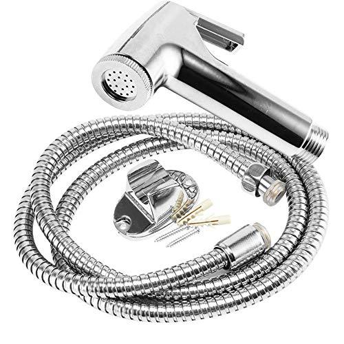 Juego de grifos de bidé para inodoro de acero inoxidable, rociador de ducha de mano, pistola rociadora de ducha higiénica para grifo de bidé de baño, como se muestra