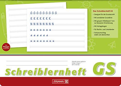 Brunnen 1044002 Schreiblernheft (GS, A4, quer, Lineatur GS, 16 Blatt)