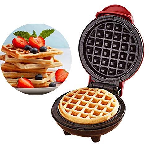 lingzhuo-shop Mini Waffeleisen Maschine Für Einzelne Waffeln Rot Waffelautomat Für Klassische Edelstahl 350W Haushalts Elektrischer Kuchen Hersteller für Pfannkuchen Plätzchen 12,2 X 12,2 X 8,8 cm