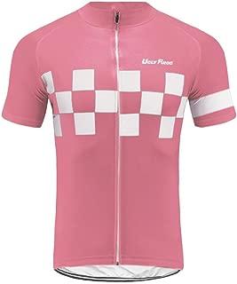 Uglyfrog Men's Cycling Jerseys Tops Biking Shirts Short Bike Clothing Full Zip Bicycle Jacket with Pockets DXMZ06