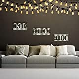 HUANGS Art Mural Lights Camera Action Home Theater Movie Room Wall Decal Vinyl Theater Room Kids Room Home Decor Finish Size 86X58Cm Creative Wall Sticker Decoration