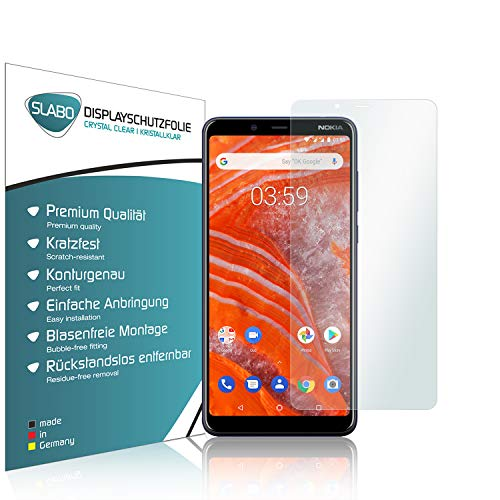 Slabo 4 x Protector de Pantalla para Nokia 3.1 Plus lámina Protectora Ultra Transparente