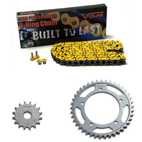 Volar O-Ring Chain and Sprocket Kit - Yellow for 2006-2010 Suzuki GSXR 600