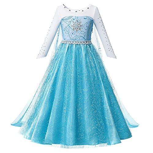 OPYTR Bottles for Lotion Vestido de niñas Princesa Cumpleaños Cosplay Malla de Malla Vestidos de Cristal Halloween Vestido de Navidad Disfraz Chal ( Color : Elsa Dress 1 , Size : 3T )
