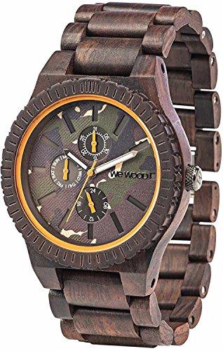 WeWOOD reloj madera/madera multifunción Kos color marrón camuflaje 9818133hombre