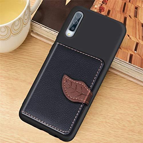 Moonbaby Nuevo Litchi Pattern Card Bag Wallet Bracket + TPU Funda for teléfono con Ranura for Tarjeta Función de Soporte de Billetera for Samsung A70 (Negro) (Color : Brown)