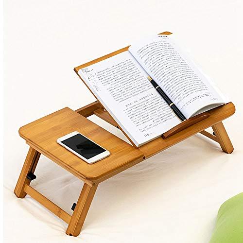 Boquite Laptop-Schreibtisch, moderner Bambus-Klappbett-Computertisch Student Laptop-Schreibtisch Höhenverstellbar