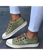 N\C Los Zapatos de Lona del tamaño Extra Grande de Las Mujeres del Verano, los Zapatos de Las Mujeres de Fondo Plano de Las Mujeres, los Calzados Informales Deportivos