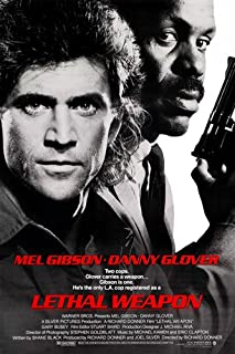 LETHAL WEAPON movie poster GIBSON & GLOVER adventure ACTION cops GUNS 24X36 (reproduction, not an original)