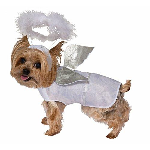 Forum Novelties Angel Dog Costume, White, Medium