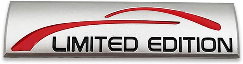 Sliver-Red 3D Limited Edition Logo Metal Emblem Badge Auto Premium ...