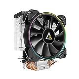 Antec CPU Cooler, A400 RGB, 4-Pin Connector PWM Silent Fan for Intel LGA 775/1150 / 1151/1155 / 1156/1366 / 2011/2066 & AMD Socket FM2 / FM1 / AM3+ / AM3 / AM2 + / AM2 / AM4