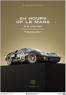 Automobilist Store Ford GT40-24 Horas de Le Mans 1966 - Black - Unique Design Póster de Edición Limitada - Tamaño de póster estándar 50 x 70 cm
