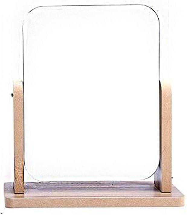 ZWeiD Finally resale start Rectangle Wooden Mirror Porta Manufacturer regenerated product Makeup Desktop Study