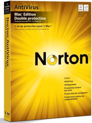 Norton Antivirus dual protection 2010 pour Mac (2 postes, 1 an) - mise à jour