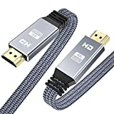 4K Short HDMI Cable 1.6ft/0.5m, Snowkids 4K@60Hz HDMI 2.0 High Speed 18Gbps Cable, Flat Braided HDMI Cord Support 4K HDR, 4K UHD 2160p,2K HD 1080p,3D HDCP 2.2 ARC, 4K TV Projector Blu-ray PC-Gray