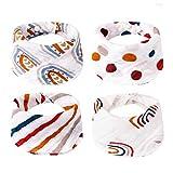 Baberos para bebés 4 piezas/set Bufanda para bebés recién nacidos Babero para bebés Pañuelo para niños pequeños Toalla de saliva para alimentación