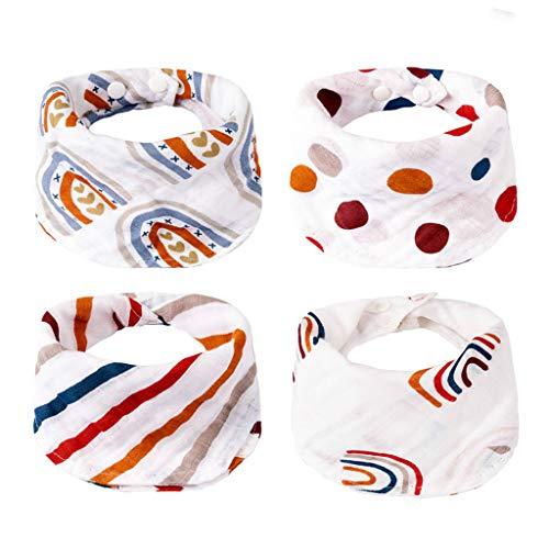 Baberos para bebé, 4 unidades/set de bufandas para recién nacidos, baberos para bebé, bandana para alimentación de saliva