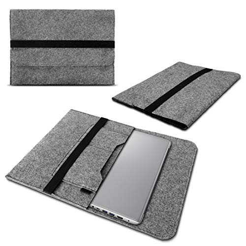 Schutzhülle kompatibel für Lenovo Yoga Slim 7 Filz Tasche Sleeve Hülle Laptop Cover Notebook Hülle 14 Zoll, Farbe:Grau