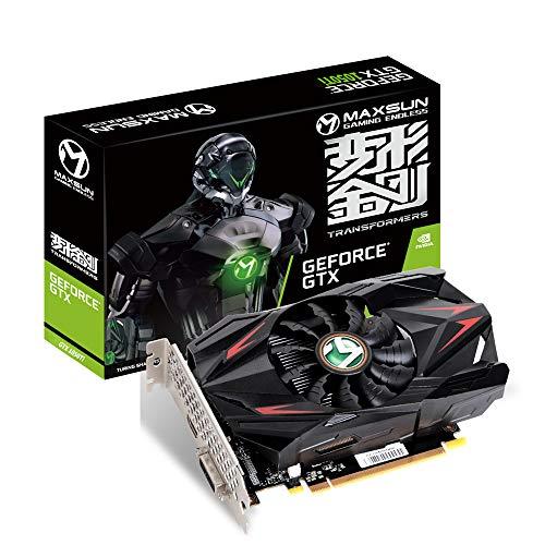 MAXSUN GEFORCE GTX 1050 Ti 4 GB GDDR5 128 bits Video Gaming Tarjeta gráfica GPU Mini ITX diseño, DisplayPort, HDMI, DVI-D, sistema de refrigeración de ventilador único