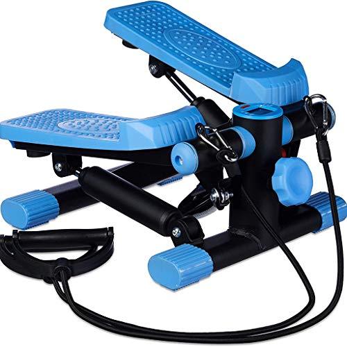 Equipment Indoorcycling Bikes Schritt,Mini Stumm,Materialfreie,Multifunktionale Sportfitnessgeräte,Lasthaltige 150kg,Multifunktionale Verwendung (Color : Blue)