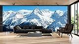 Fotomural Vinilo Pared Montañas Nevadas | Fotomurales Pared | Fotomural Decorativo | Mural | Vinilo Decorativo | Varias Medidas 350 x 250 cm | Decoración comedores Salones | Motivos Paisajisticos