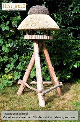 Vogelhaus mit Reetdach Futterhaus Futterstation -74 cm- traditionell eingedeckt - 6