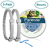Small Dog Flea and Tick Collar,8-Month Flea and Tick Treatment and Prevention for Dogs Under 18 lbs,100% Natural Ingredients, Waterproof,Include Tick Removal Tools (2 Pack)