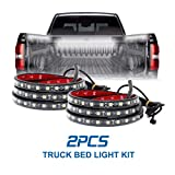 Fuguang LED Truck Bed Lighting Kit 2PCS 60Inch Magnetic Attraction IP68 5050SMD High Brightness For Cargo Boats,Pickup,SUV(IP68)