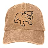 Dyfcnaiehrgrf Bulldog Outline - Gorra de béisbol unisex reutilizable para camionero, sombrero para mujer, color negro natural