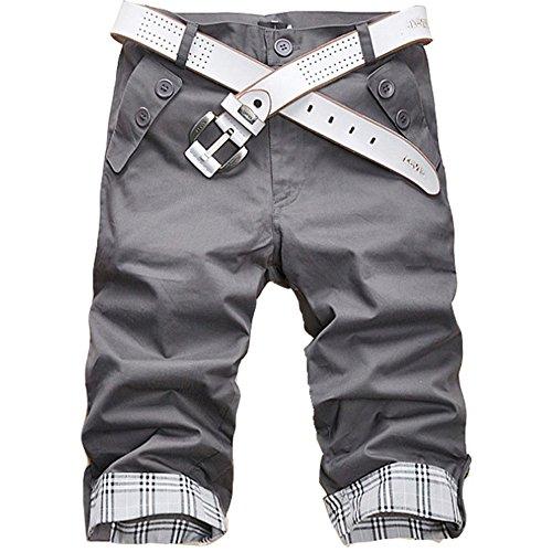 S&S Men's Summer Korean Slim Fit Various Colors Mid-waisted Capri Pants Junior Pants