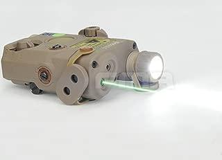 H World Shopping Airsoft Version PEQ LA5 Upgrade Version LED White Flashlight + Grn laser w/ IR AEG GBB CQB DE