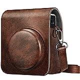 Fintie Tasche für Fujifilm Instax Mini 40 Sofortbildkamera, Premium Kunstleder Schutzhülle Reise Kameratasche Hülle Abdeckung mit abnehmbaren Riemen, Braun