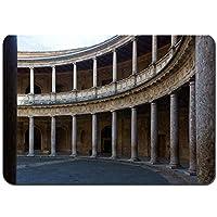 バスマット 玄関マット 足ふきマット,カルロス5世アルハンブラ宮殿の日,滑り止め ソフトタッチ 丸洗い 洗濯 台所 脱衣場 キッチン 玄関やわらかマット 50 x 80cm