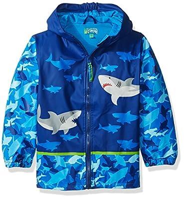 Stephen Josheph Gifts Kids' Little Boys' Monkey Rain Coat, Shark, 4/5