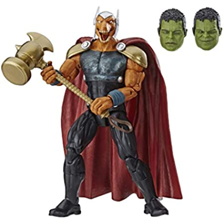 """Marvel Legends Series Beta Ray Bill 6"""" Collectible Action Figure Toy for Ages 6 & Up with Accessories & Build-A-Figurepiece"""