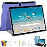 4G Tablet 10 Pollici, Android 9.0 Pie, Tablets 4GB RAM + 64GB ROM, Google GSM Tablet PC, Quad Core, Tablets Dual LTE SIM - WIFI |OTG |8000mAh |Bluetooth |GPS |Type-C |con Tastiera e Mouse - Blu