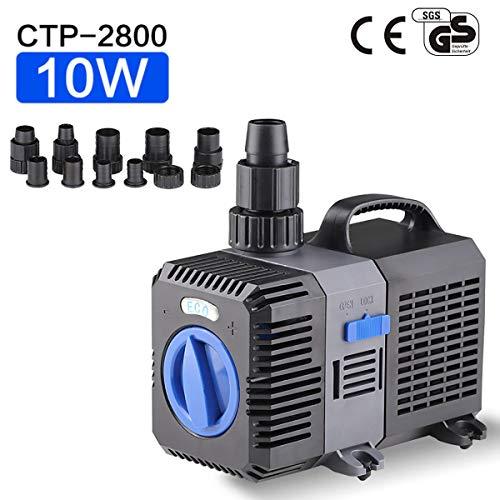 sen sen Super Eco Teichpumpe Filterpumpe 3000L/H 10Watt Energiespar Wasserpumpe Koiteich Bachlaufpumpe CTP-2800