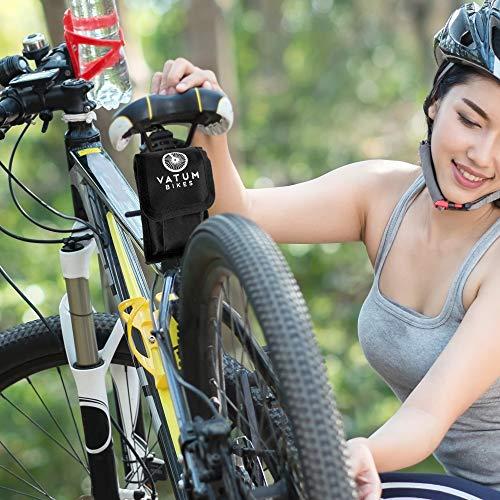Fahrradwerkzeug – Praktisches Fahrrad Werkzeug- und Reparatur Set – Flickzeug mit 16-in-1 Multitool, Ventiladapter & Aufbewahrungstasche – Fahrradflickzeug I Reparaturset I Reifenflickzeug - 6