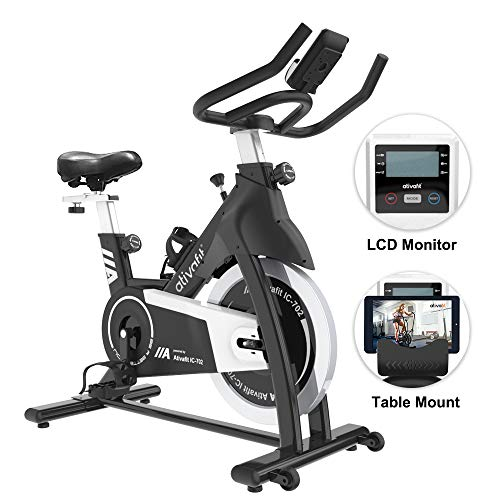 Best Price ATIVAFIT Exercise Bike Stationary Indoor Cycling Bike 35 lbs Flywheel Belt Drive Workout ...