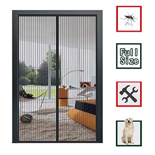 ZFHTAO Magnetischer Türvorhang 105x235cm, Insektenschutz Balkontür Fliegenvorhang Der Magnetvorhang ist Ideal für die Balkontür für Balkontür Kellertür Terrassentür - Schwarz