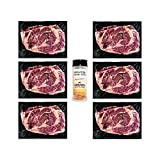 Aged Angus Ribeye Steaks by Nebraska Star Beef -Prestige- Hand Cut and Trimmed with Signature Seasoning - Gourmet Steak Delivery to Your Home, 6 Steaks