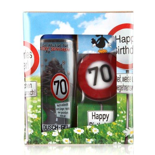 Lustapotheke® Geschenkset zum 70. Geburtstag (Duschgel und Handseife)