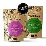 Vita Et Natura® Zyklustee 1 und 2 'Probier Set' - Bewährte Kräutermischungen nach traditionellen Rezepturen - 100% BIO - 120g loser Tee (2 x 60g)