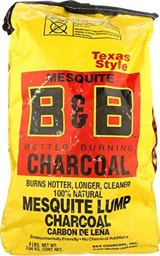 B&b; Charcoal, Charcoal Lump Mesquite, 128 Ounce