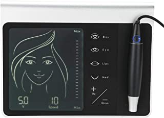 Electric Tattoo Machine, LCD Display Digital Permanent Tattoo Eyebrow Lip Eye liner Pen MTS and PMU Beauty Makeup Device