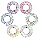 Magic Mandala Flower Basket Toy, Kids Magic Loops Toys, Fidget Anxiety Toys For Adults, Transforming 35 Shapes, Handmade Wire Toy, Tangle Teens Fidgets