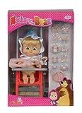 Simba 109301957 - Mascha und der Bär - Mascha Puppe im Buggy
